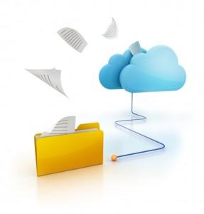 Image representing cloud file storage